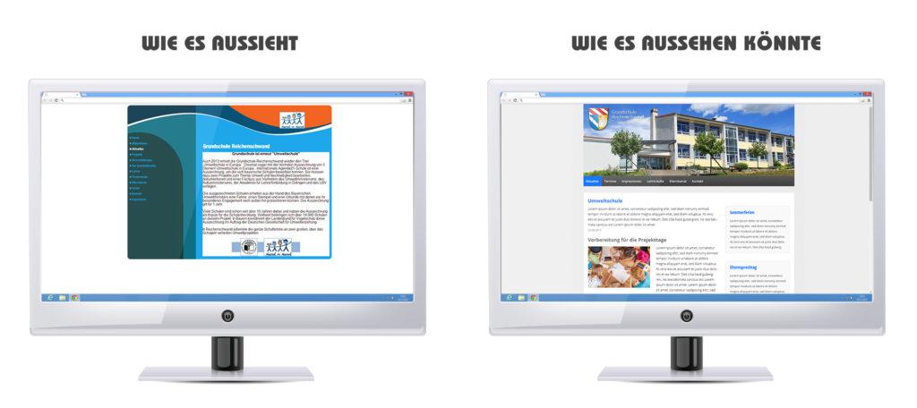Redesign Website Grundschule Reichenschwand